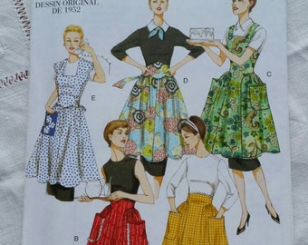Vogue Apron Pattern  1952 Design Style