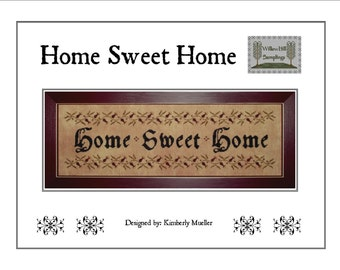 Home Sweet Home Cross Stitch Pattern (Hard-Copy)