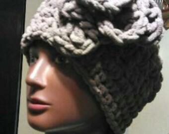 Light Cocoa Plush Super Soft Crochet Hat
