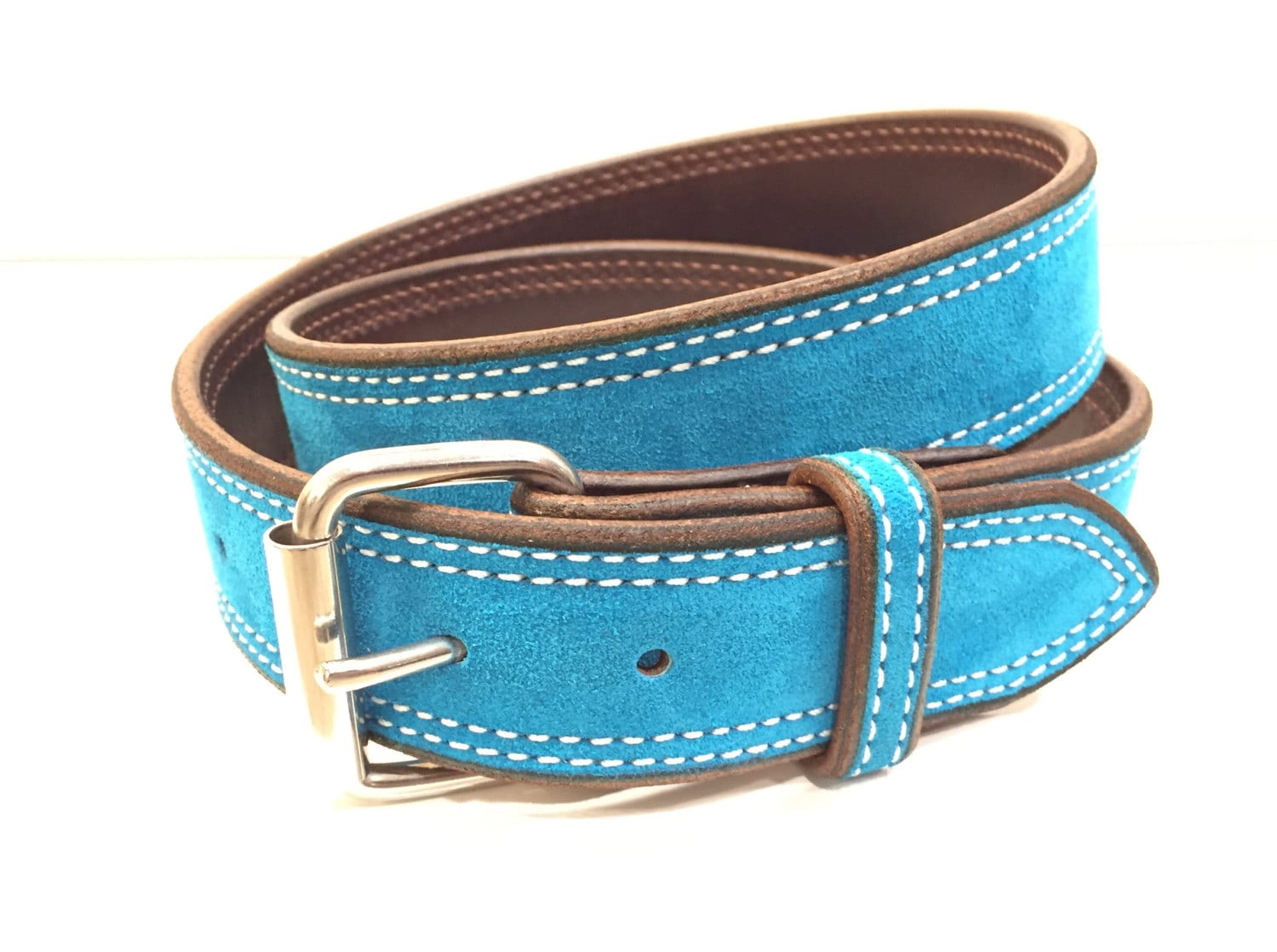 turquoise suede belt turquoise leather beltturquoise