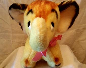 vintage stuffed elephant
