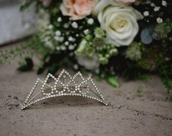 Beautiful Vintage Rhinestone Bridal Tiara