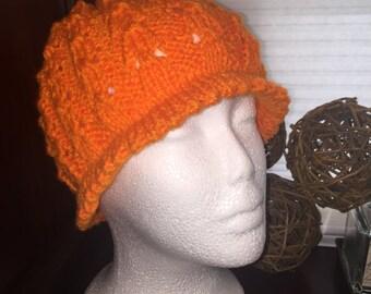 Knit Hat pumpkin 101