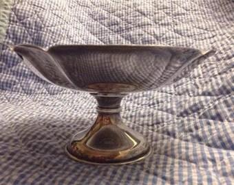 Vintage Toyokoki silver 990 dish candy mints bowl antique