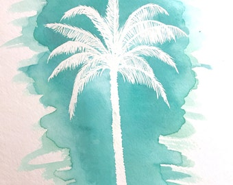 At the Beach (Original Watercolor)