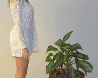 Vintage floral sheer tunic