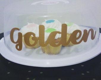 Golden Cake Cover
