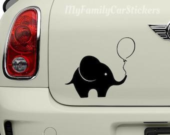 Elephant Vinyl Decal - Elephant Sticker - Elephant Car Decal - Elephant Laptop Sticker - Elephant Decal - Elephant Car Decal - Laptop Decal
