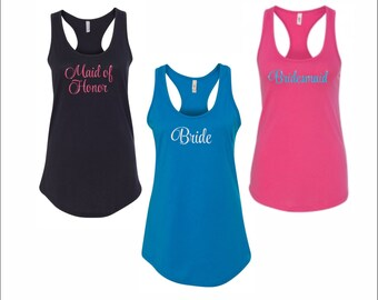 Bride, Maid of Honor, Bridesmaid Shirts for Wedding Party or for bachelorette party! BUY 5 GET 1 FREE!!