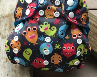 """Cloth Diaper """"Monster Mash"""" (Limited Edition fabric)"""