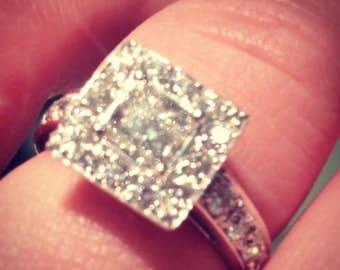 Stunning Princess Diamond Engagement Ring