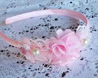 Cute Sweet Pink Headband Beautiful Headband Decorated Headband Ladies Girls Headband