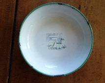 Vintage enamel dish, Mary had a little lamb, made in Sweden