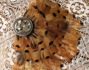 Pheasant Feather Hair Piece