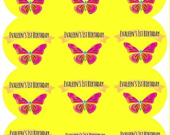 Party labels,  party stickers,  party decorations,  birthday labels,  birthday stickers