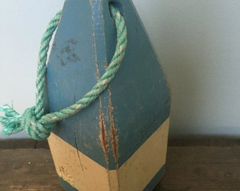 Beautiful Blue/White Vintage Buoy
