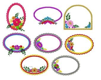 20 Designs, Board Frame Applique Machine Embroidery Design Pack, 4x4 Hoop, PES Format