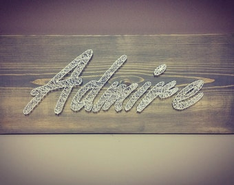 Custom Handmade 3D Wood Stringart Sign