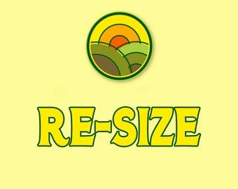 ADD-ON, Re-Size Change Size