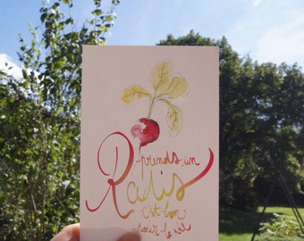 "Postcard ""Radish"""