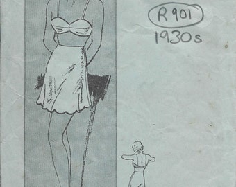 1930s Vintage Sewing Pattern B36 PANTIES & BRASSIERE (R901) Butterick 5078