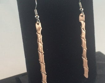 Copper Blade Earrings
