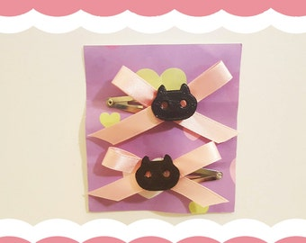 Cookie Cat Hair Clips (pair)