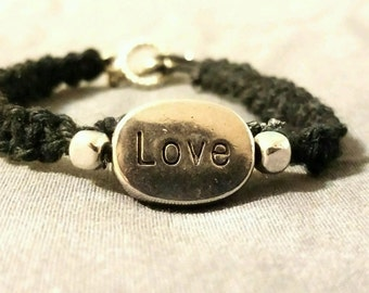 Love Black Childs Bracelet