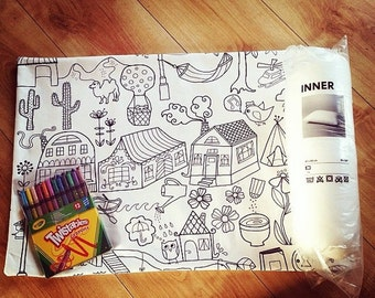Colour Your Own Pillow Kit