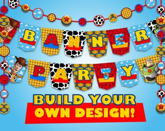Toy Story - Banner Party - 146 pdf files 300 dpi - Toy Story Party