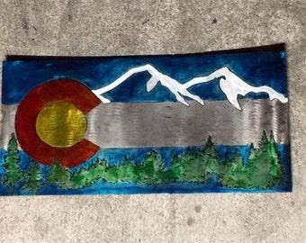 Colorado Flag Metal Art