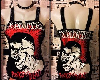 The Exploited - Punks Not Dead handmade top custom Corset