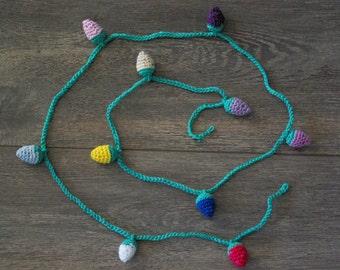 "Crochet Garland: ""Cotton Garland"" Crochet bunting Knitted garland , Christmas garland Wall hanging Nursery decor"