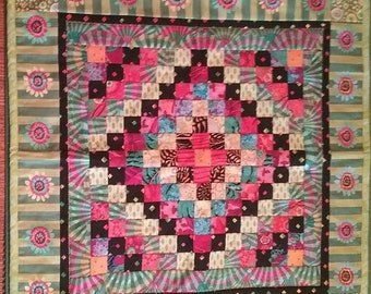 22 inch square Mini quilt or wall hanging