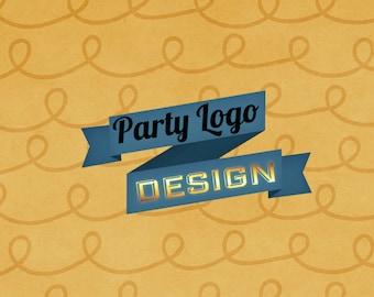 logos for parties, sweet sixteens, bar mitzvahs and bat mitzvahs
