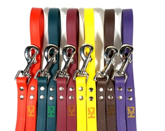 "3/4"" Super Soft Leather-like DoggleHead 6 ft. Leash (Medium to Large Dogs) Stinkproof + Waterproof"
