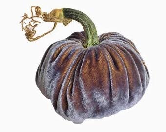 Smoky Gray Silk Velvet Pumpkin