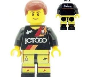 Custom Designed Minifigure - Bradford City (BCAFC - The Bantams) Fan / Supporter 3rd Kit 2016 Printed On LEGO Parts