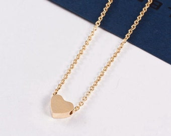 Julia love 18K gold plated Heart Necklace love jewelry romantic woman