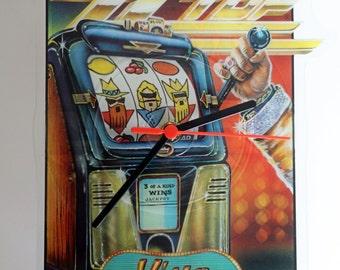 "ZZ Top - Viva Las Vegas 7"" Shaped Picture Disc Record Clock"