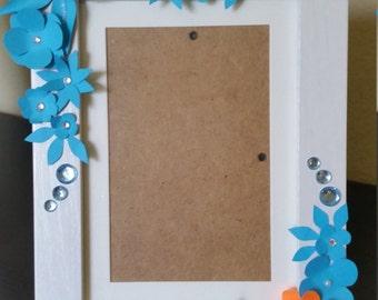 White wooden frame