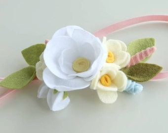 Felt Flower Crown - Felt Flower Headband