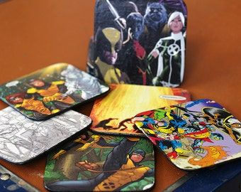 6 X-Men Comic Coasters, Comic Book Coasters, X-Factor Comics