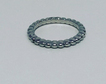Stackable ring silver