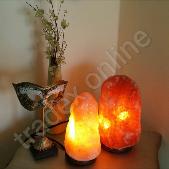 2x Himalayan Pink Rock Crystal Salt Lamp 2-3 kg Natural Healing Ionizing Lamps - Introductory Limited Time Offer