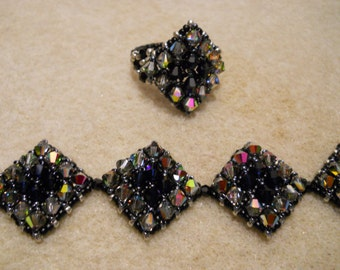 Swarovski Diamond Crystal Bracelet and Matching Ring