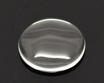 4 clear glass cabochons around 21 mm | Create DIY jewellery