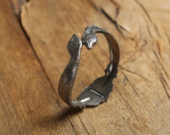 Vintage Double-Headed Snake bracelet, snake * free shipping *