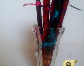 9 Scents to Choose From 10.5 Inch Hand Dipped Incense Sticks Aromatherapy Set of 10