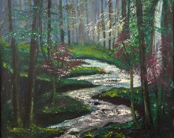 The Quiet Brook:  oil painting